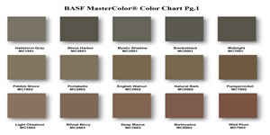 BASF Concrete Color Chart